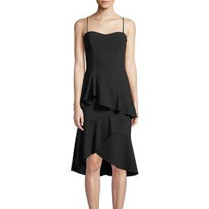 Black Halo Barbados Slip Dress Ruffle Hem NWT 10